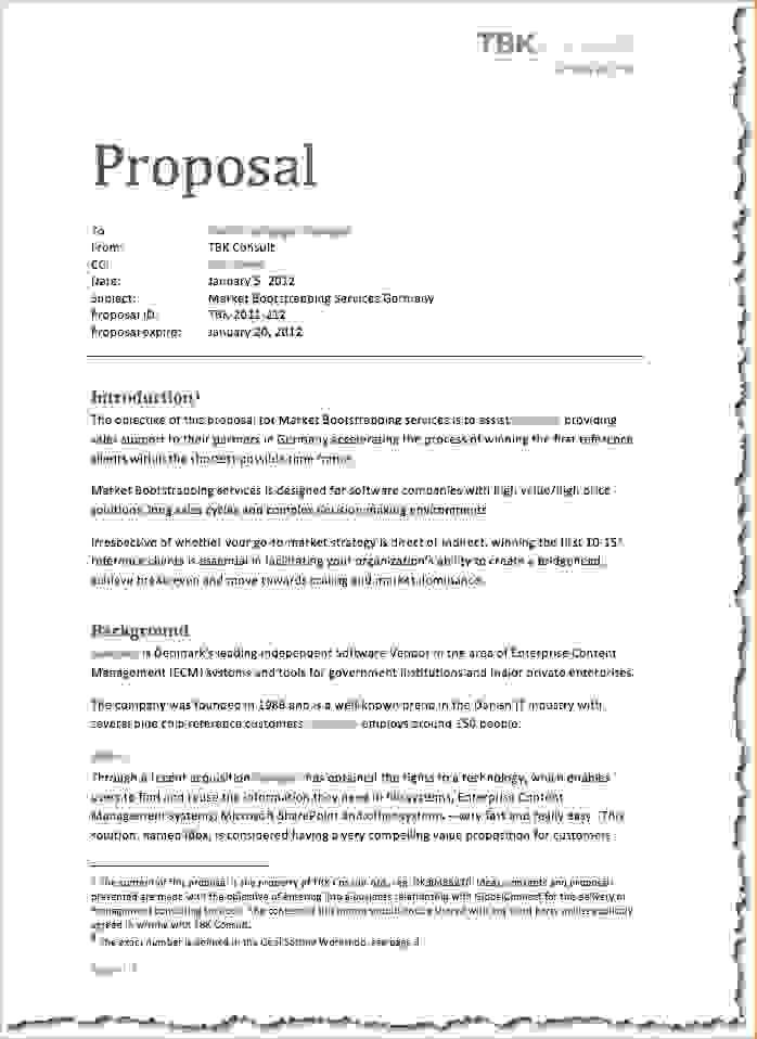 18+ Template For Writing A Business Proposal | A Science Lab ...