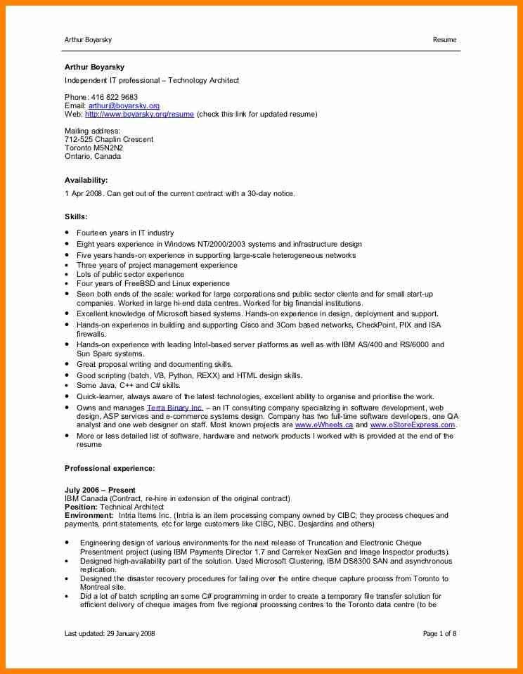 4+ cv format word doc - mail clerked