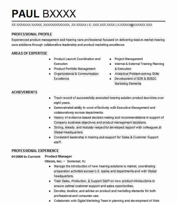 Best Product Manager Resume Example | LiveCareer