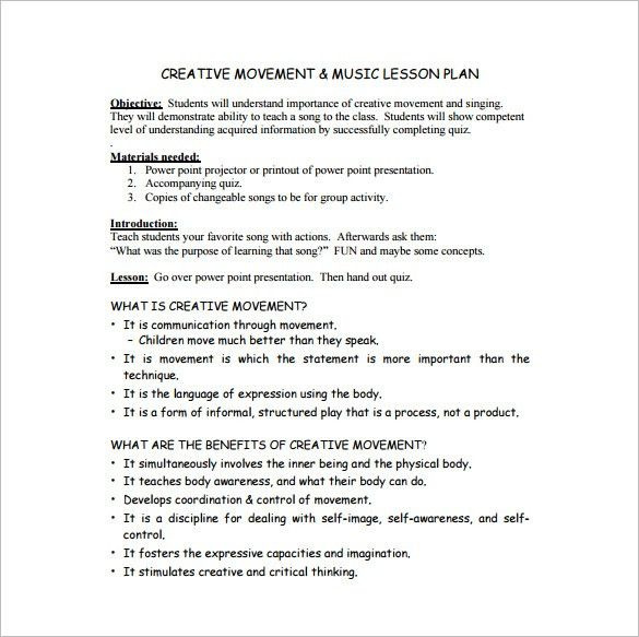 Lesson Plan Example Best 25 Lesson Plan Examples Ideas On – Sample Music Lesson Plan Template