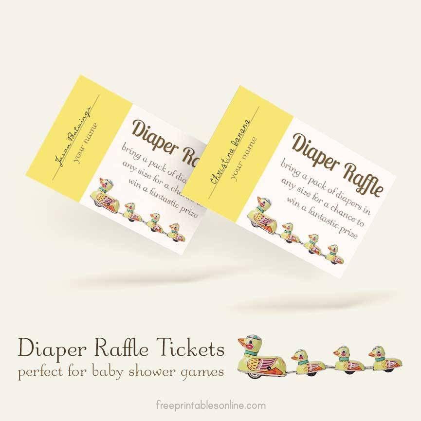 Free Printable Diaper Raffle Ticket Template | Free Printables Online
