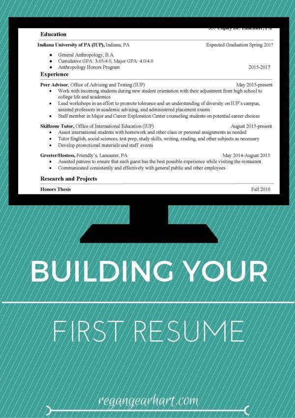 how to write a good resume for your first job first job resume