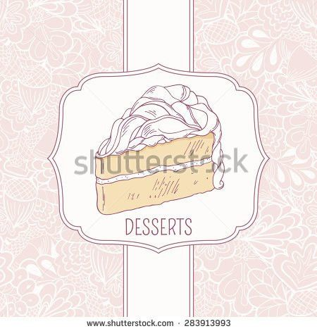 Dessert Menu Template Sweet Cake Doodle Stock Vector 283913993 ...