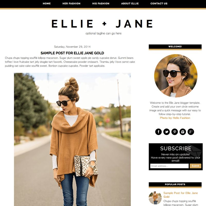 New Minimal Blogger Template – Ellie Jane — Studio Mommy