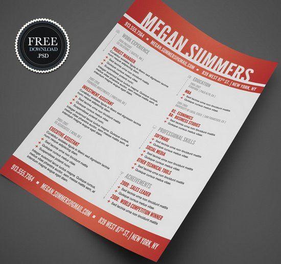 Creative Resume Templates Free Word 29279 | Plgsa.org