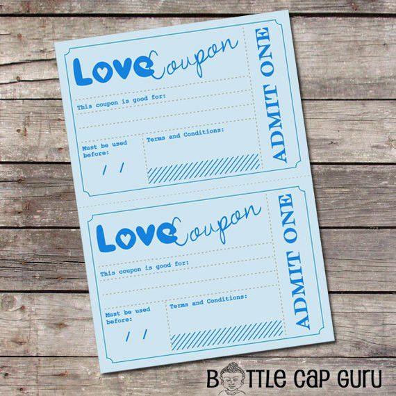 Printable Love Coupons / Romantic Gift Idea for Him / Vouchers