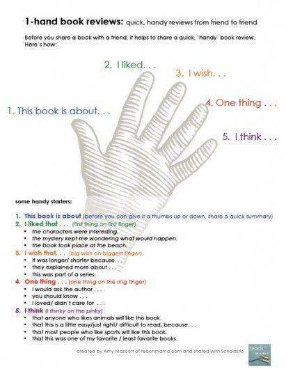 One-Hand Book Review Sheet | Parents | Scholastic.com