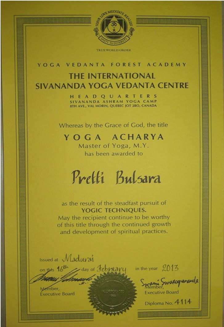 CERTIFICATES/QUALIFICATIONS (YOGA & FITNESS) - YogaMyPassion ...