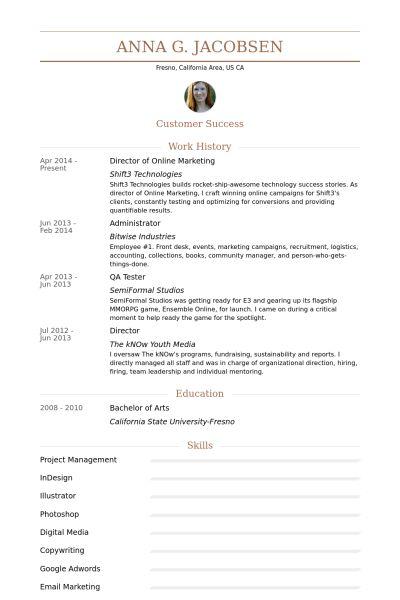 Online Marketing Resume samples - VisualCV resume samples database