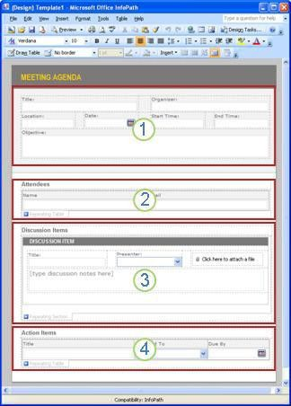 Get started: Create a meeting note system with InfoPath and ...