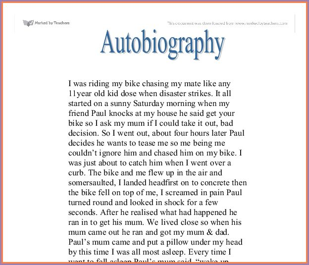 EXAMPLE OF AUTOBIOGRAPHY | Samplenotary.cam