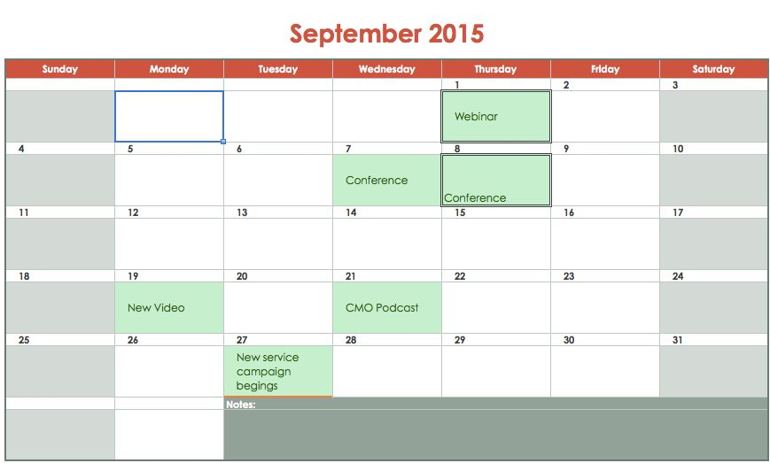 Social Media Calendar a Free Template - Advo.Ninja