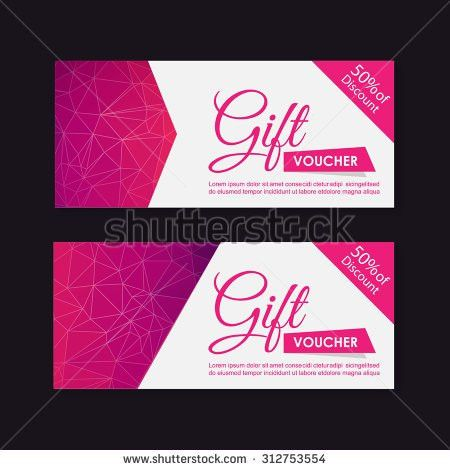 Voucher Gift Certificate Coupon Template Stock Vector 248288284 ...
