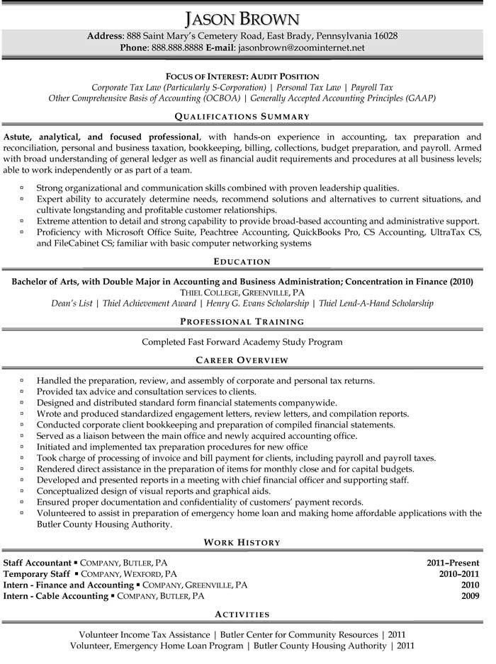 Auditor Resume Sample | jennywashere.com