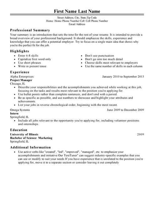 Best Resume Format To Apply For Job, Word File & PDF File | Jobs ...