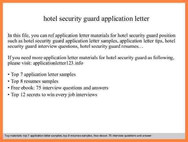 5+ application letter for security | Bussines Proposal 2017