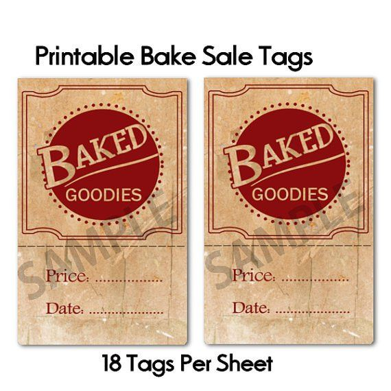 Printable Retro Sign Price Tags | Bake Sale Ideas