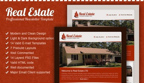 Real Estate Email Template by SpidebInc | ThemeForest
