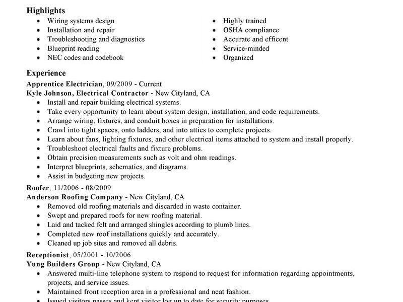 Electrician Resume Canada Examples. resume and cv samples resume ...