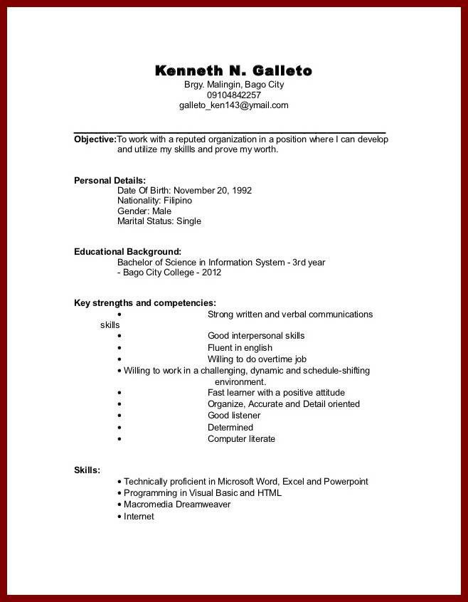 picture suggestion for resume template for college student ...
