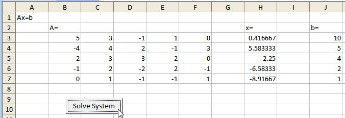 excel - Linear system solving ( N*N matrix multiplication ), VBA ...