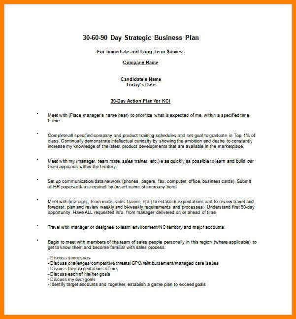 9+ 30 60 and 90 day plan template | resume language
