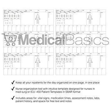 Nursing Brain Sheet Multiple Patient Notebook - Nurse and CNA ...