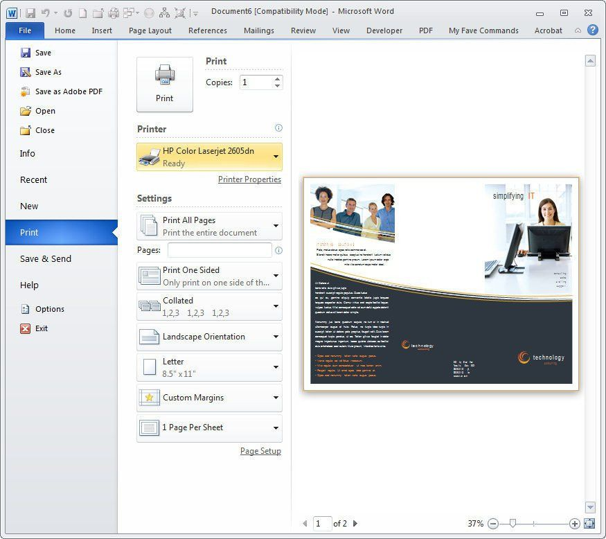 How to Design a Brochure Using Microsoft Word | PCWorld
