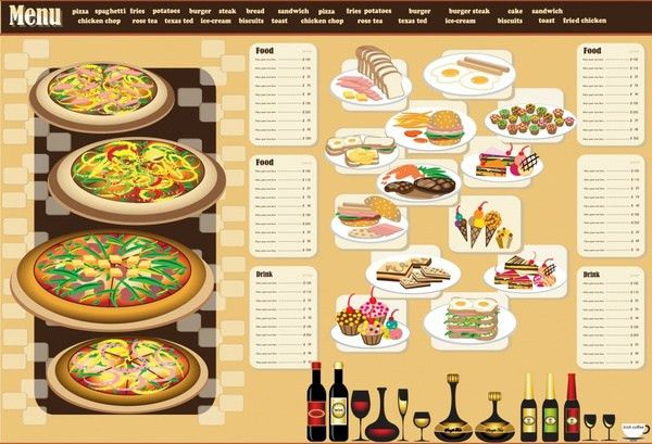 Restaurant menu design template vector Free vector in Encapsulated ...