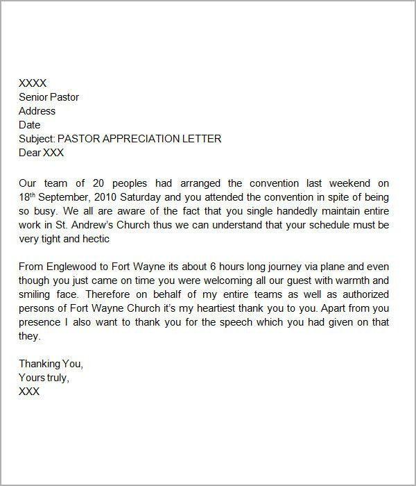 Thank You Letter Appreciation [Nfgaccountability.com ]