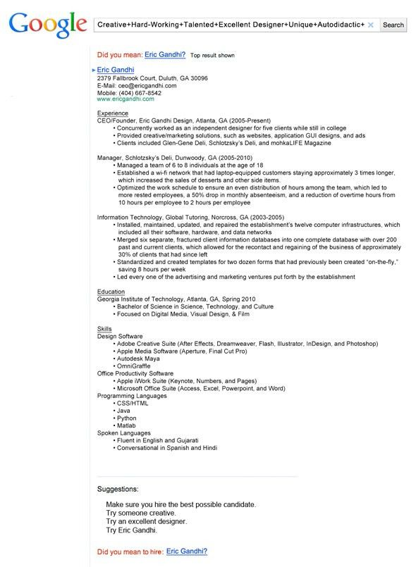 13 Insanely Cool Resumes That Landed Interviews At Google And ...