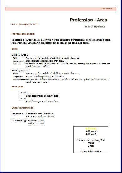 Functional CV: templates | Resume templates