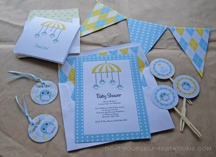Diy Baby Shower Invitations Template - Themesflip.Com