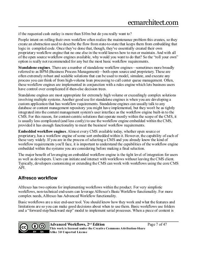 Alfresco Developer Series: Advanced Workflows