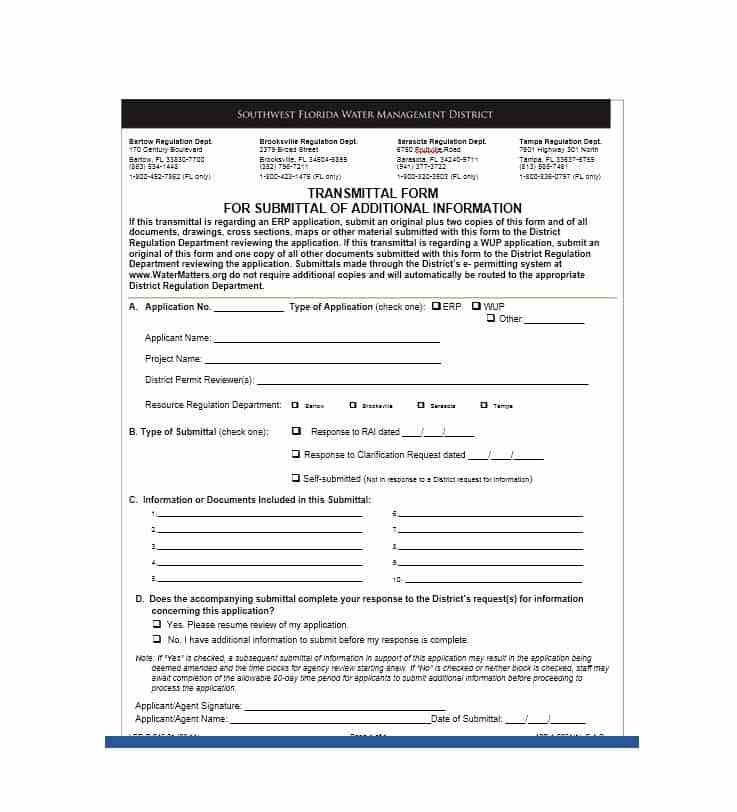 Transmittal Document Template - Contegri.com