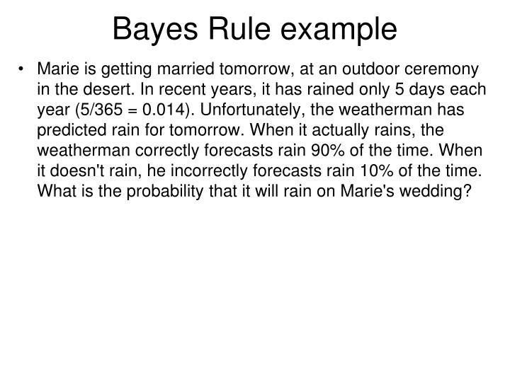 PPT - Bayes Rule PowerPoint Presentation - ID:1079623