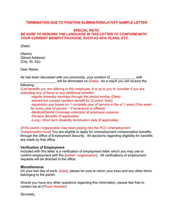 notice of termination false employee information. sample letter of ...