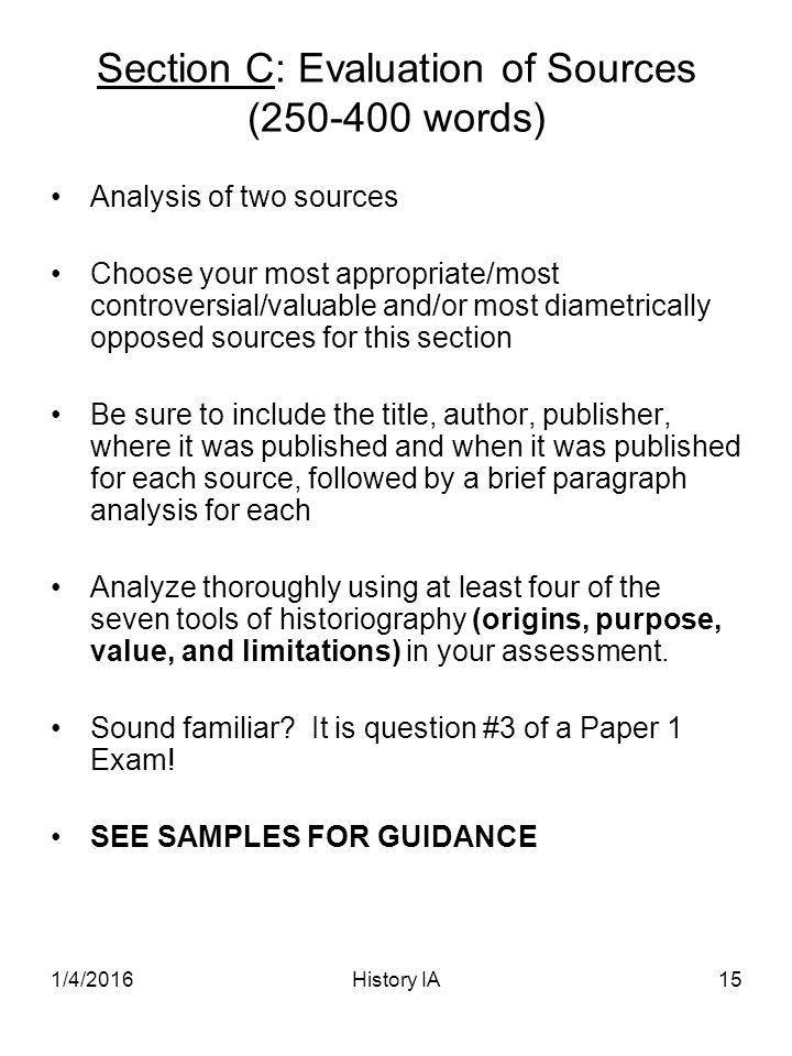 IB History Internal Assessment - ppt video online download