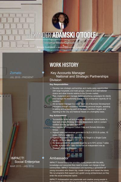 Accounts Manager Resume samples - VisualCV resume samples database