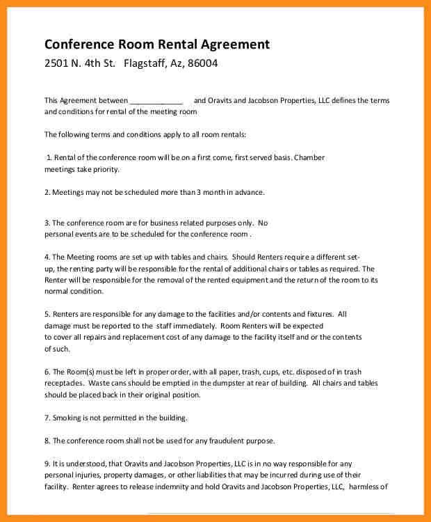 Room Rental Agreement Form. Blank Rental Agreement Template Rental .