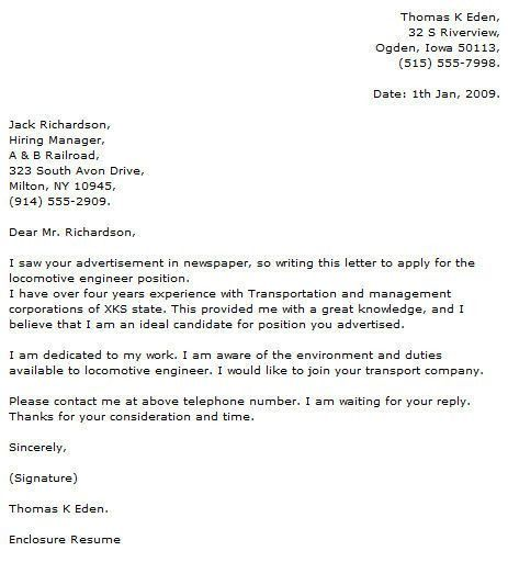 Engineering Cover Letter Format. art coursework introduction. best ...