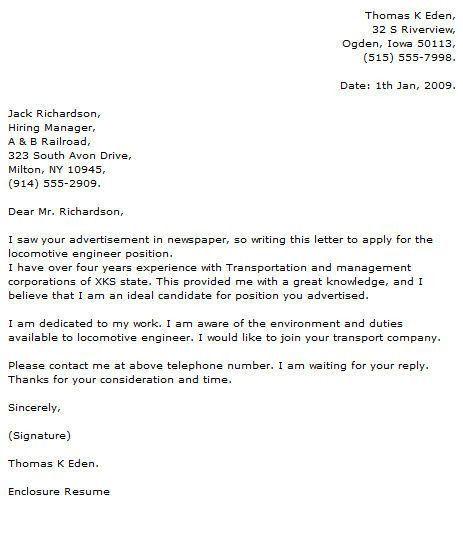 Cover Letter For Internship. Cover Letter For Undergraduate ...