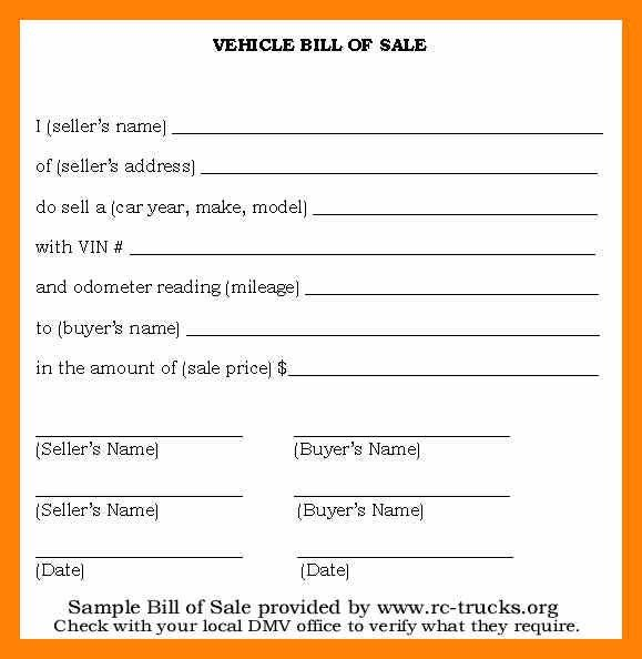 7+ bill of sale sample for car | informal letter