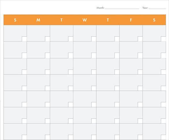 39+ Blank Calendar Template   Free & Premium Templates