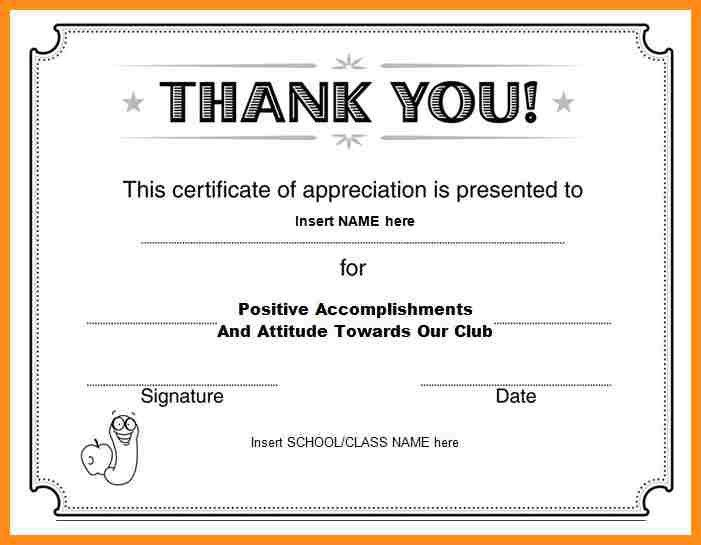 Thank You Certificate Template. Free Certificate Of Appreciation ...