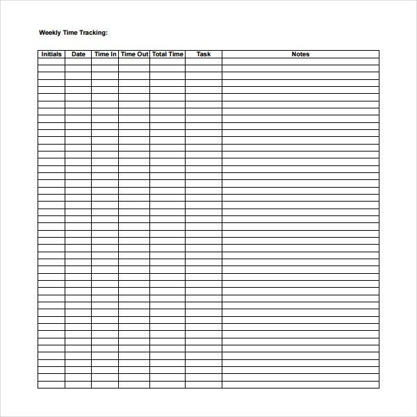 Time Tracking Templates | Download Free & Premium Templates, Forms ...
