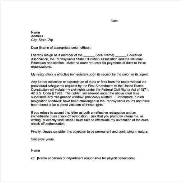 Resignation Letter : Voluntary Resignation Letter Letter Of ...