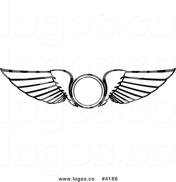 Royalty Free Wings Icon Logo by Vector Tradition SM - #4186
