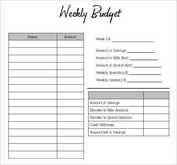 simple budget worksheet