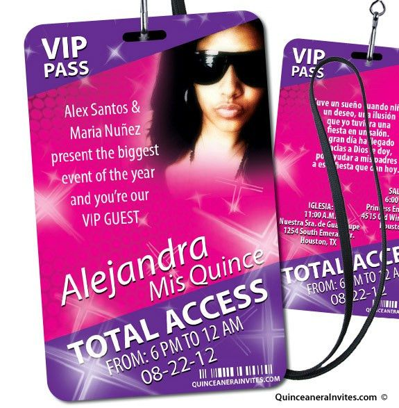 VIP Pass - Party Invitations